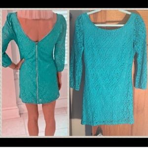 NWT ASOS 3/4 sleeve crochet lace mini dress slip